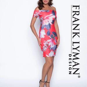 COPY - Frank Lyman floral off the shoulder bodyco…